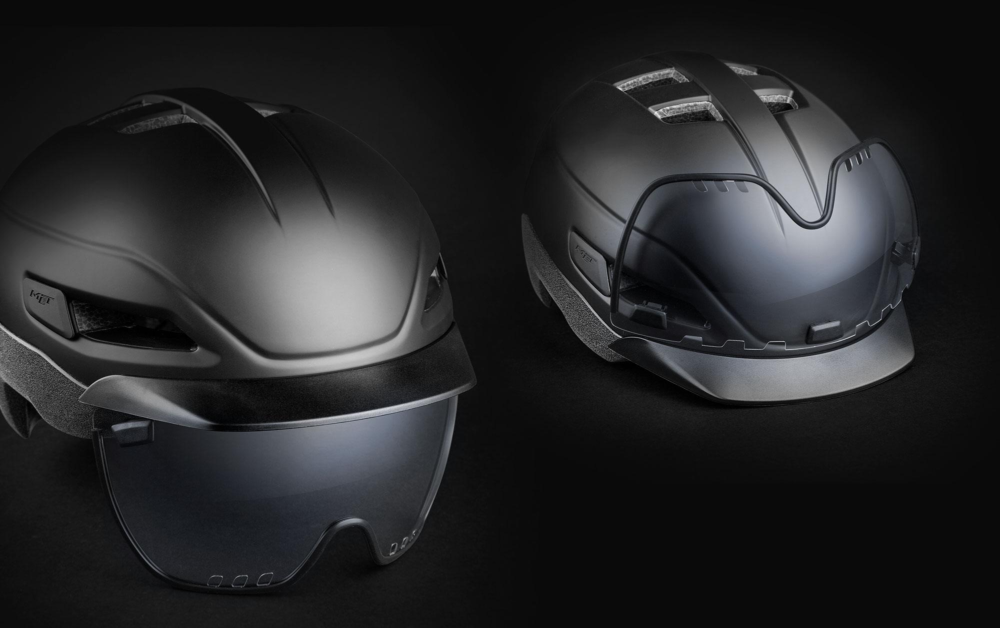MET Grancorso Urban, E-bike and Commuting Helmet Magnetic Dual Shield