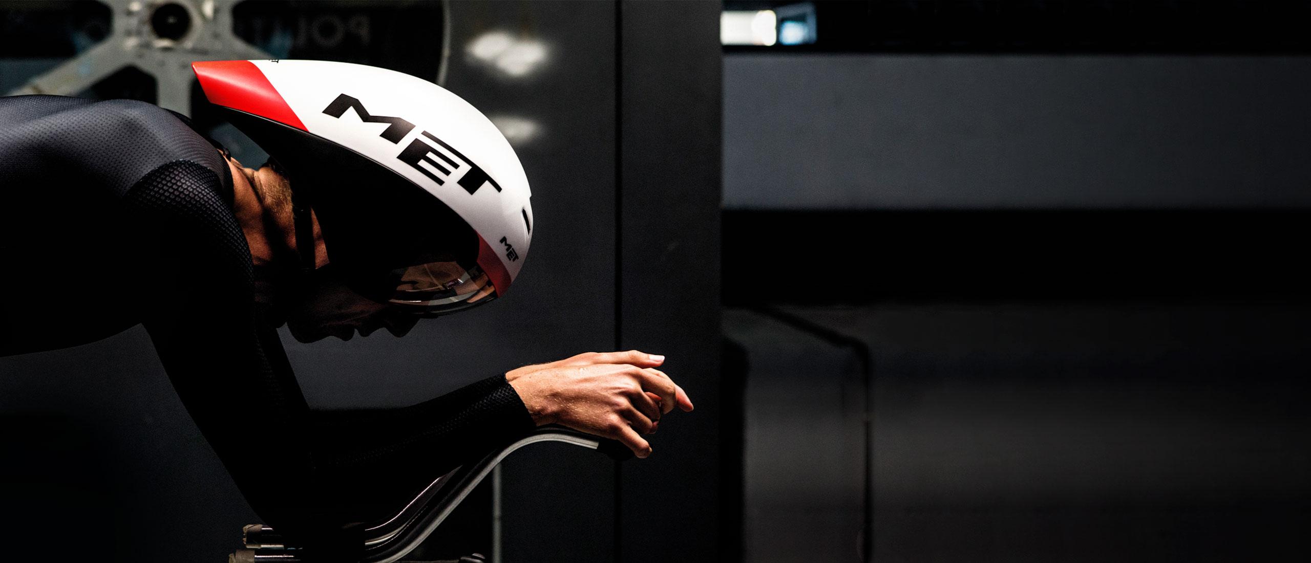 MET Drone Wide Body Road and Aero Helmet wind tunnel