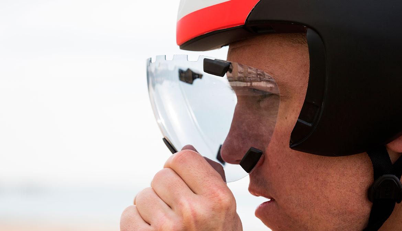 MET Mag-Clip shield for Drone Wide Body Aero Helmet