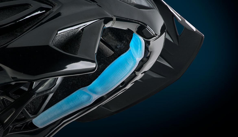 MET dual gel helmet front padding