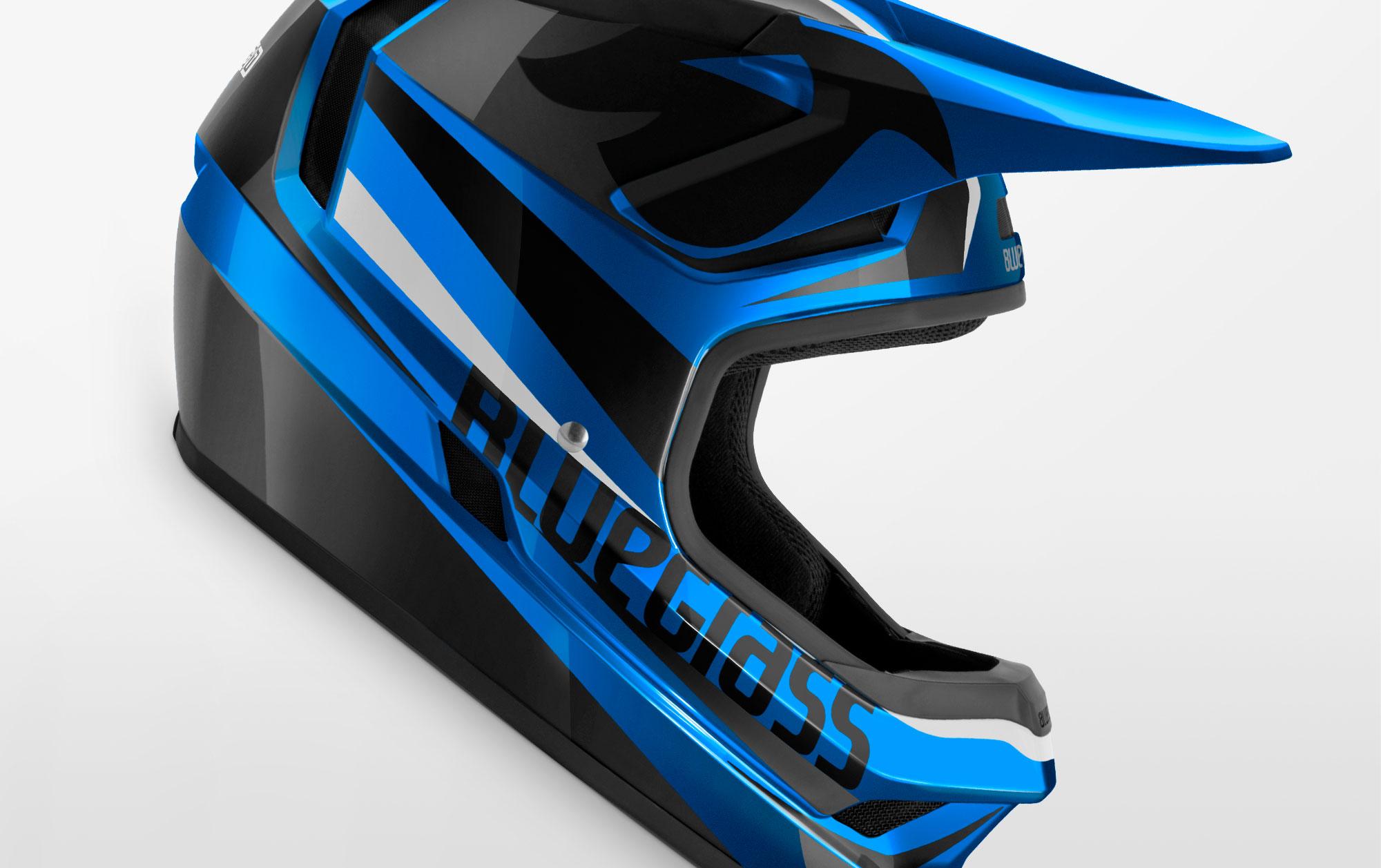 56-58 f/ür Erwachsene Met Fahrradhelm Bluegrass Legit Petro Unisex Blau