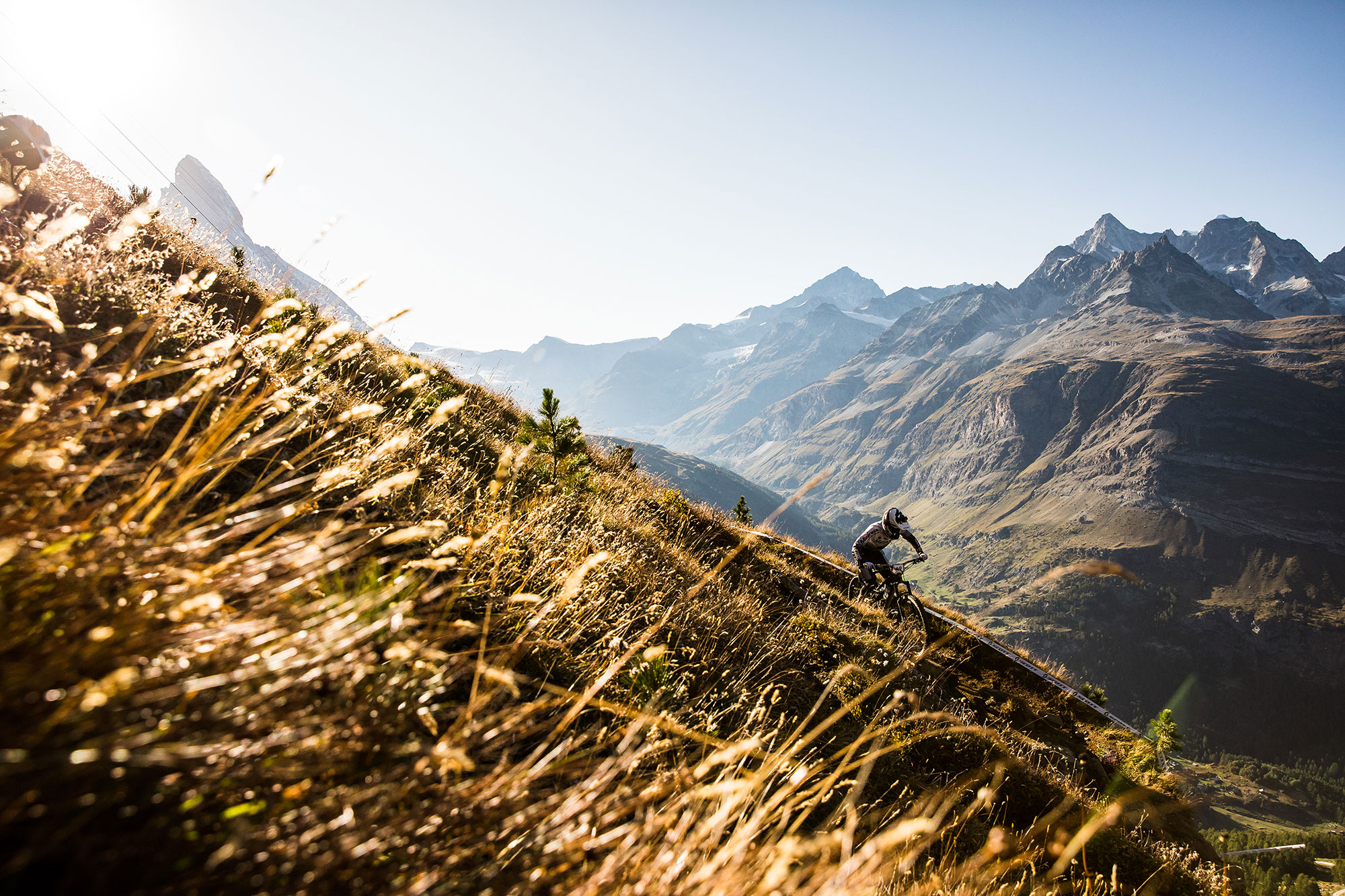 Alex Cure Zermatt Enduro World Series with Bluegrass Legit Carbon Enduro Helmet