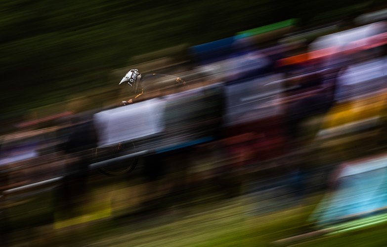 Florian Payet Les Gets Downhill World Cup Bluegrass Legit Carbon DH Helmet