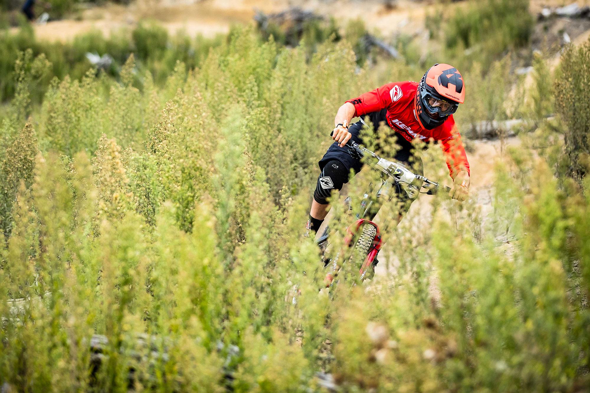Sam Blenkinsop Crankworx Rotorua Bluegrass Legit carbon DH Helmet