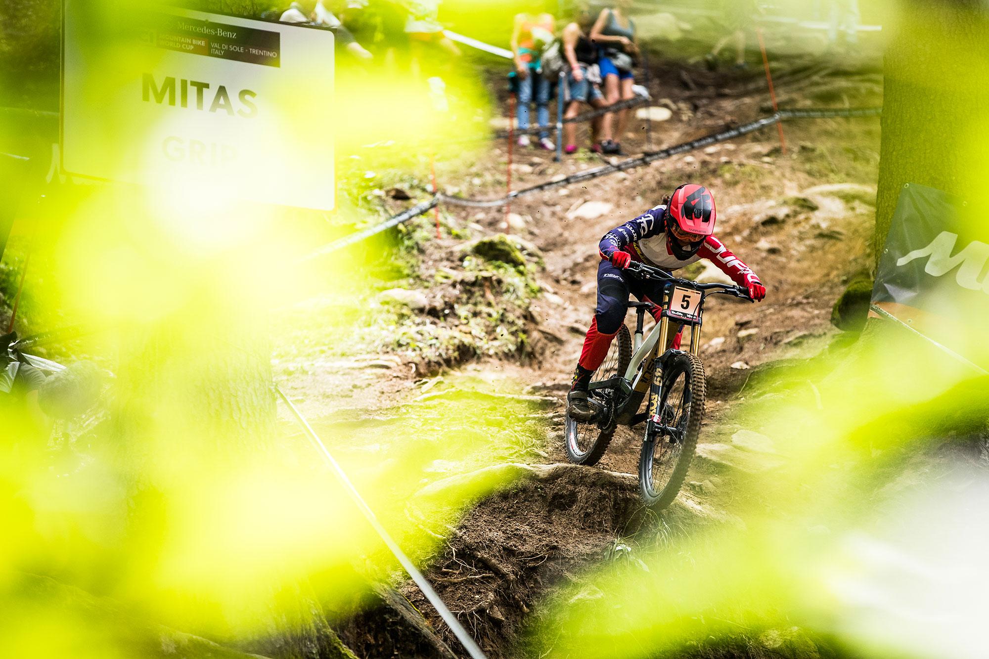Veronika Widmann Val di Sole world cup downhill with Bluegrass Legit Carbon