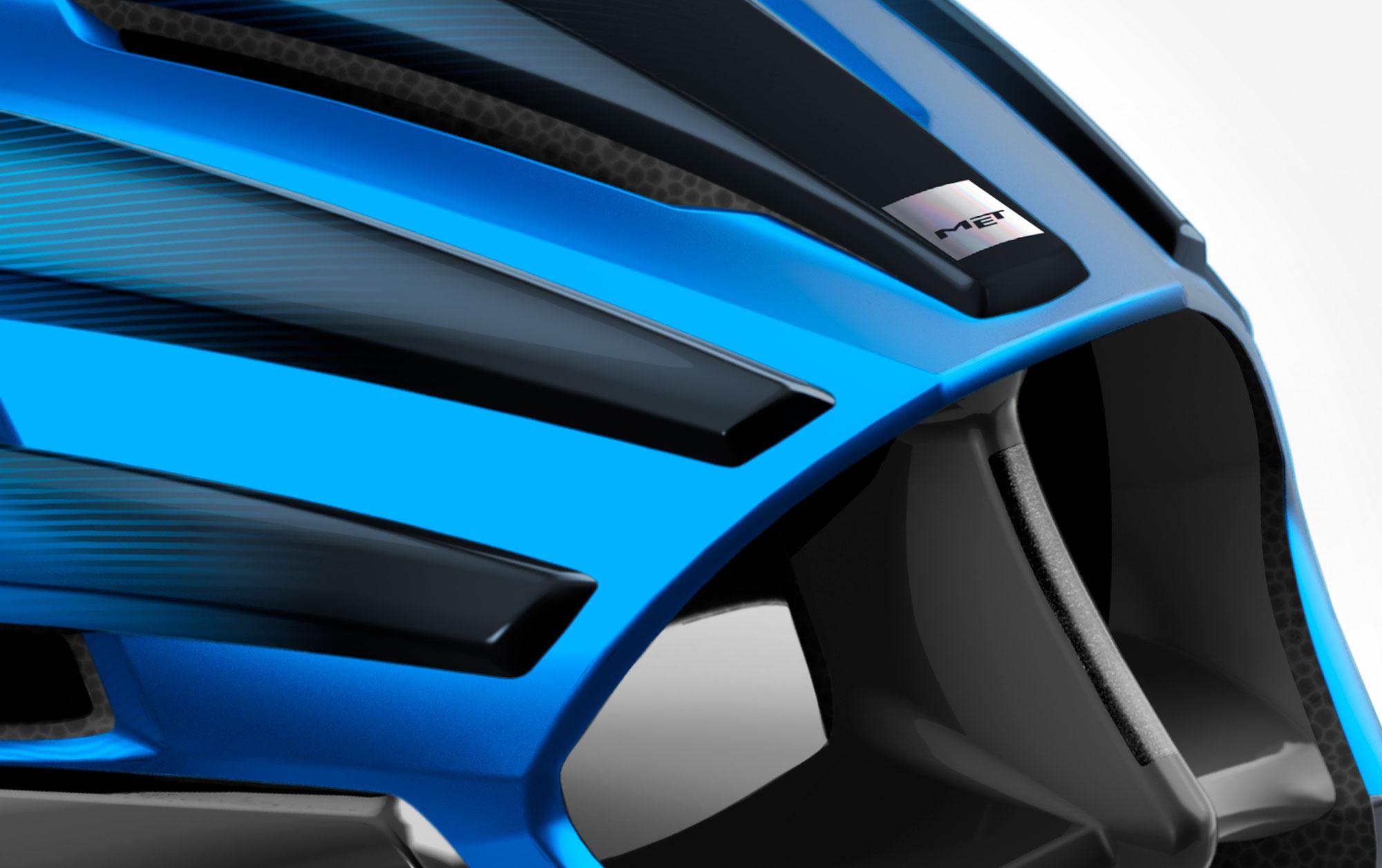 MET Trenta Road, Aero, Cyclocross and Gravel Helmet rear deflectors