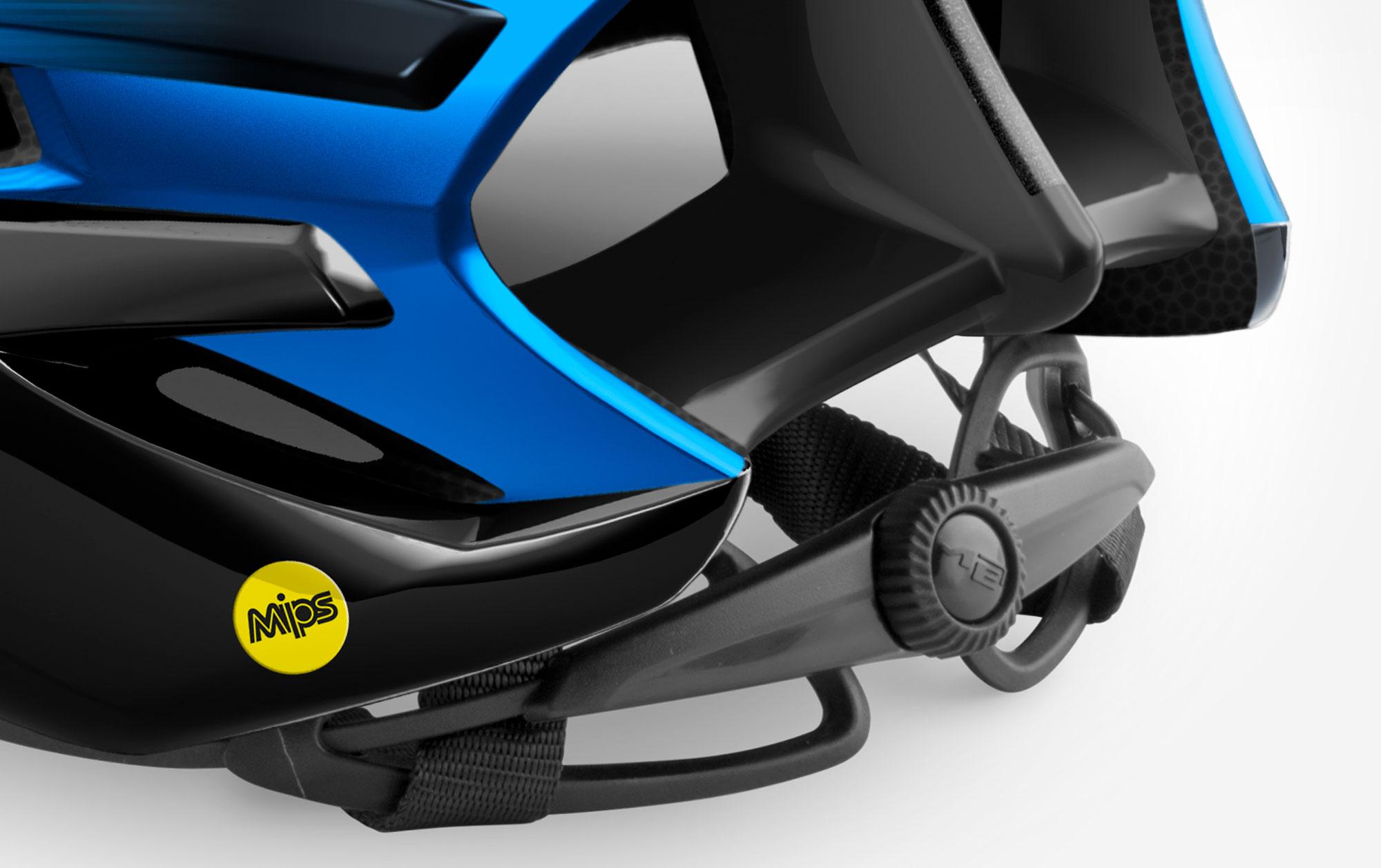 MET Trenta Road, Aero, Cyclocross and Gravel Helmet retention system