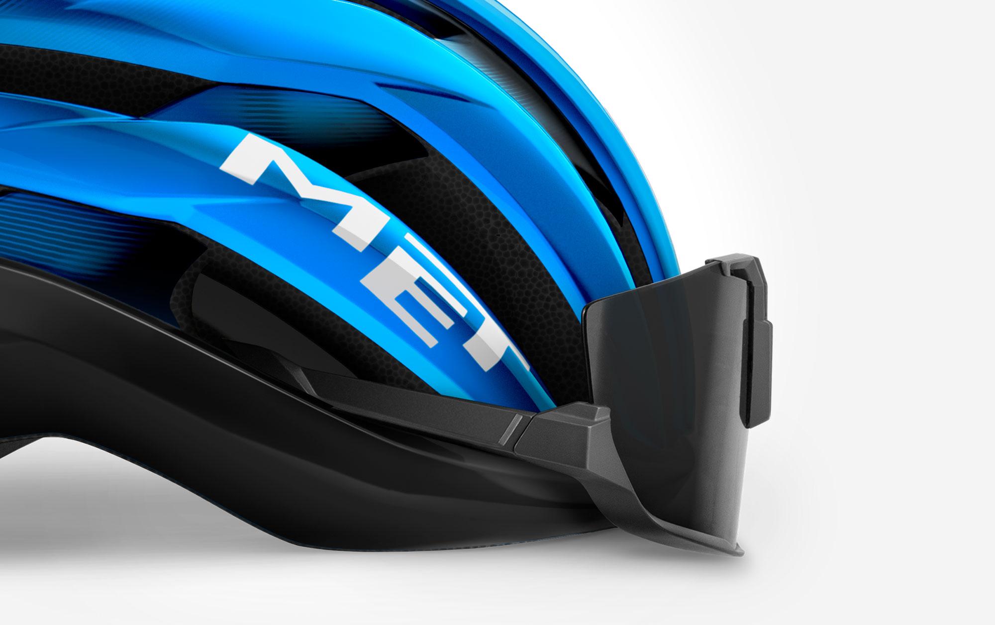 MET Trenta Road, Aero, Cyclocross and Gravel Helmet sunglasses ports