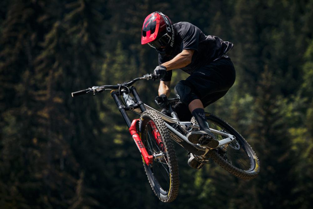 Bluegrass Legit Carbon Full Face Helmet for Downhill worn by Vinny-T