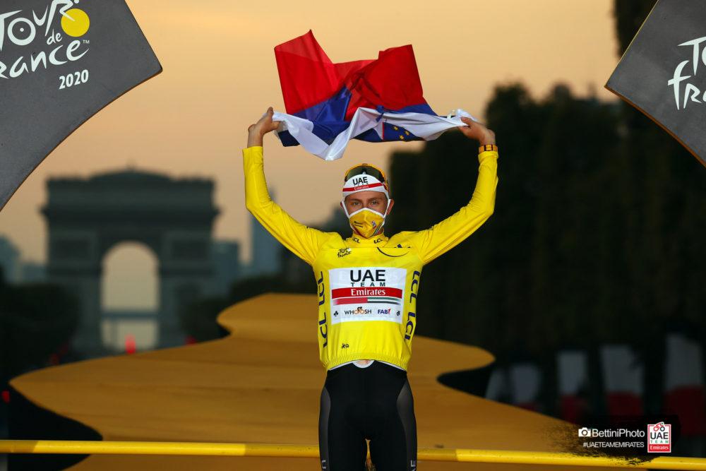 MET Trenta 3K Carbon Road and Aero Helmet with Tadej Pogacar 2020 Tour de France winner