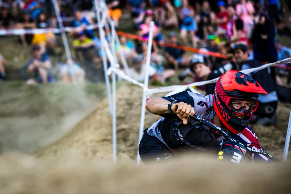 Bluegrass Legit Carbon Full Face Helmet for Downhill and Enduro MTB with Sam Blenkinsop